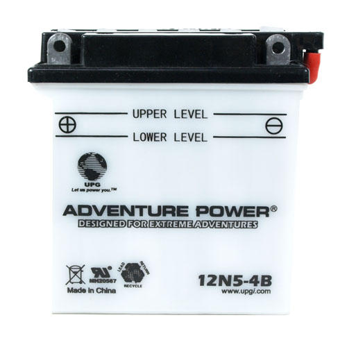 12N5-4B 12 Volt 5 Amp Hrs Conventional Power Sport Battery