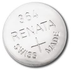 Renata 364/363 - SR621 Silver Oxide Button Battery 1.55V - 2 Pack + FREE SHIPPING!