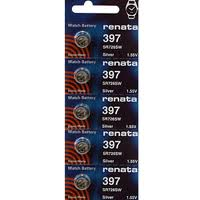 Renata 397/396 - SR726 Silver Oxide Button Battery 1.55V - 10 Pack +FREE SHIPPING!