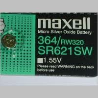 Maxell 364 - SR621 Silver Oxide Button Battery 1.55V - 2 Pack + FREE SHIPPING!