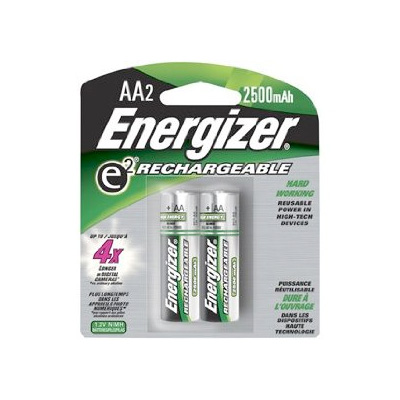 Energizer AA Rechargeable NiMH Batteries - 2 Pack