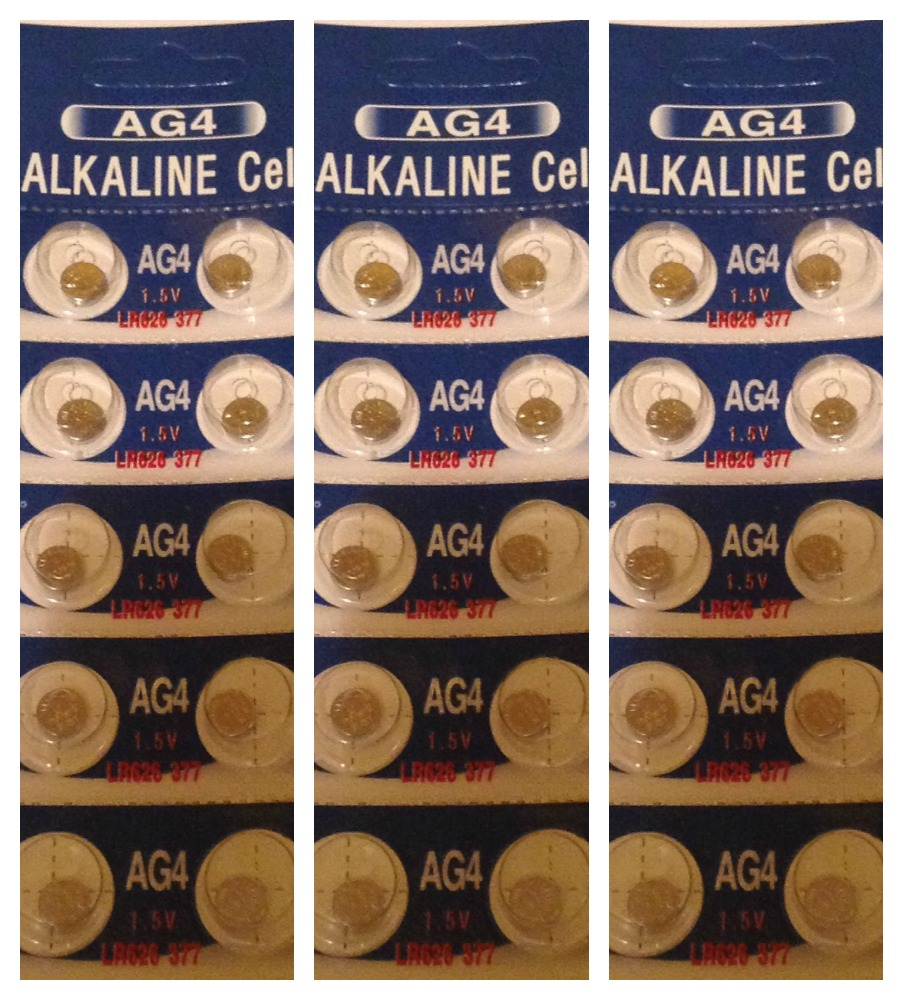 AG4 / LR626 Alkaline Button Watch Battery 1.5V - 30 Pack - FREE SHIPPING!