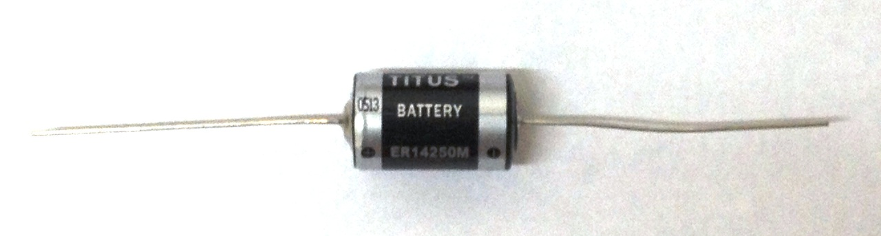 Titus 1/2 AA Size 3.6V ER14250MFAX High Energy Lithium Battery With Axial Wire Leads - 10 Pack + Free Shipping!