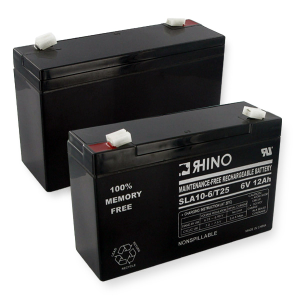 Sealed Lead Acid Battery 6V 12Ah W/wide Terminals