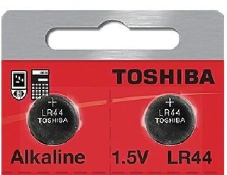 Toshiba LR44 - A76 Alkaline Button Battery 1.5V - 2 Pack + FREE SHIPPING!