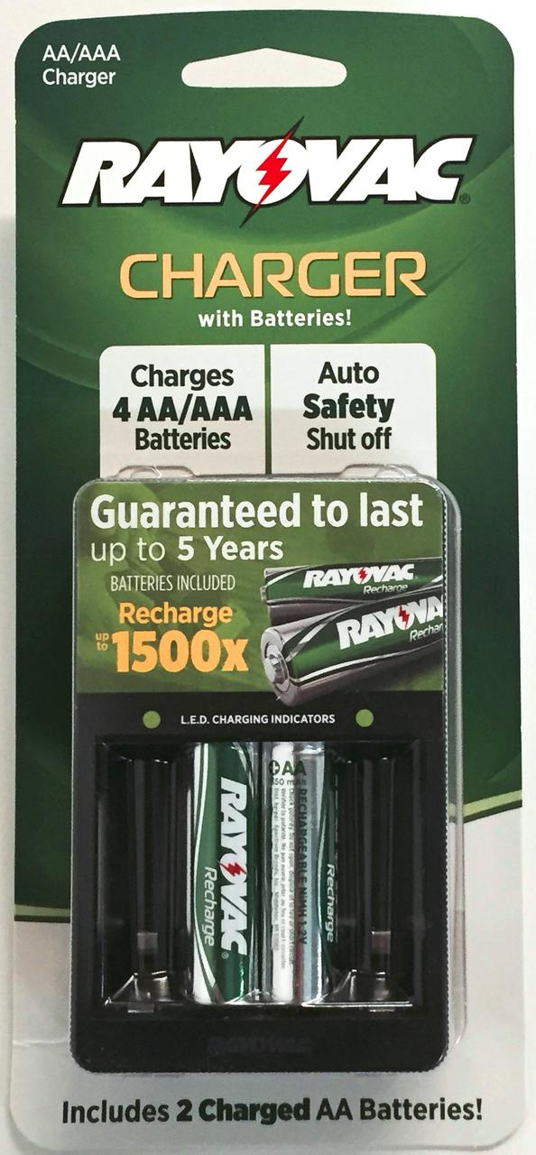 Rayovac Value Charger For AA And AAA Batteries Includes 2 AA NIMH Batteries + Free Shipping