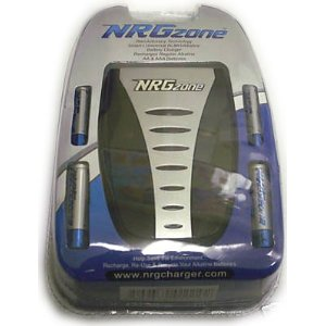 NRG Zone Battery Charger - Includes AA And AAA Rechargeable Batteries
