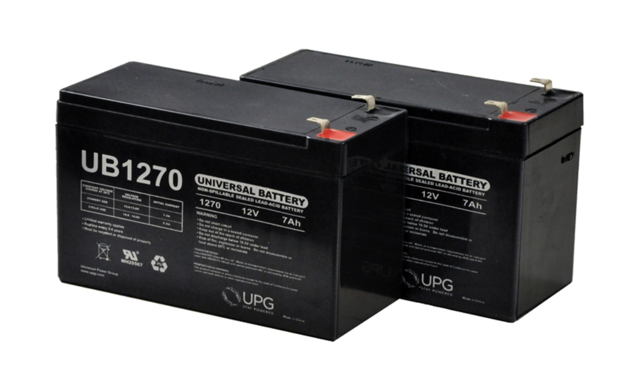 UB1270 12 Volt 7 AMP SLA/AGM Battery 2 Pack + FREE SHIPPING!