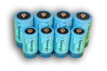 Tenergy High Capacity NiMH Rechargeable Battery Package: 4 C 5000 MAh + 4 D 10000 MAh + FREE SHIPPING!