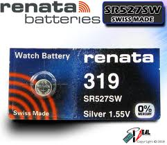 Renata 319 - SR527 Silver Oxide Button Battery 1.55V - 2 Pack + FREE SHIPPING!