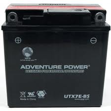 YB7-A 12 Volt 8 Amp Hrs Conventional Power Sport Battery