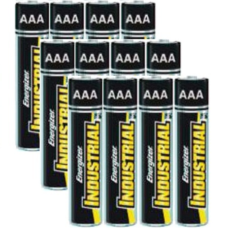 Energizer Industrial Alkaline AAA - 12 Pack + FREE SHIPPING!