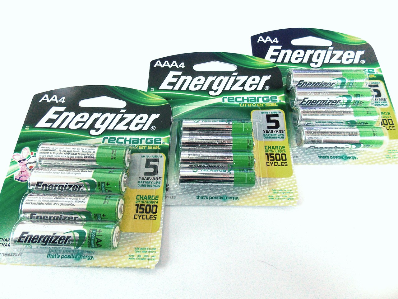 12 Piece Combo Pack - Energizer Rechargeable Batteries NiMH Retail 8 AA + 4 AAA + FREE SHIPPING