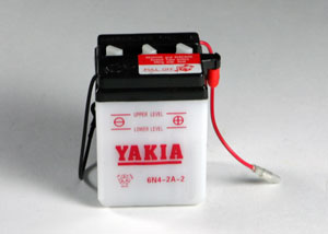 6 Volt 4 AMP Motorcycle And Power Sport Battery (6N4-2A-2)