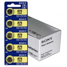 Sony LR44 - A76 Alkaline Button Battery 1.5V - 2 Pack - FREE SHIPPING