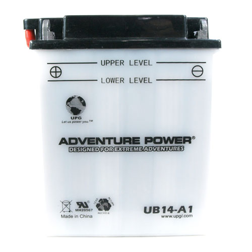 YB14-A1 12 Volt 14 Amp Hrs Conventional Power Sport Battery