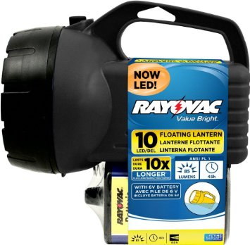 Rayovac Value Bright LED Floating Lantern With 6V Battery EFL6V10LED-B + Free Shipping