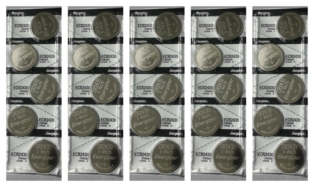 Energizer CR2430 3V Lithium Coin Battery 25 Pack + FREE SHIPPING