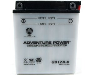 YB12A-B 12 Volt 12 Amp Hrs Conventional Power Sport Battery