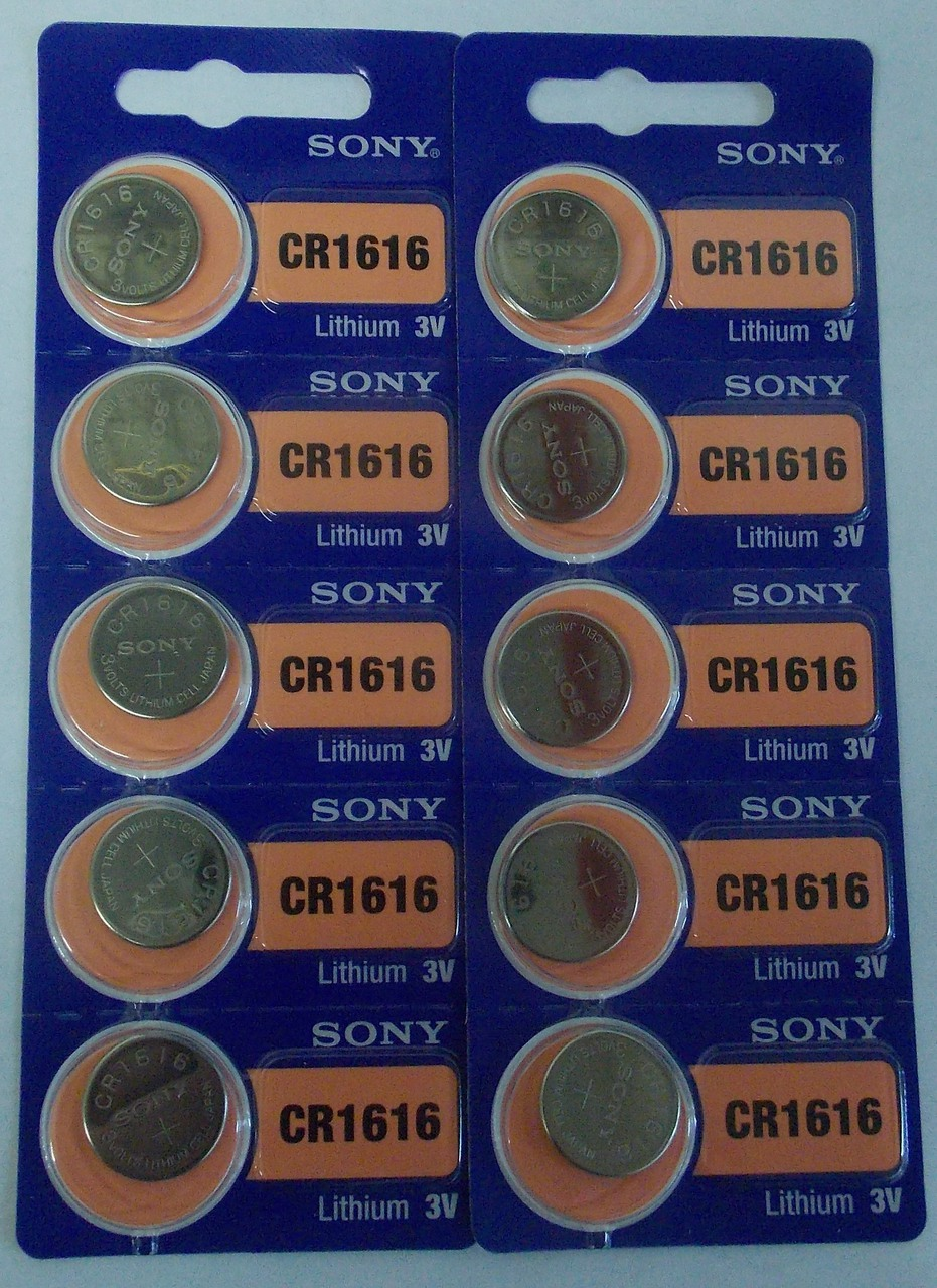 Sony CR1616 3V Lithium Coin Battery - 10 Pack + FREE SHIPPING